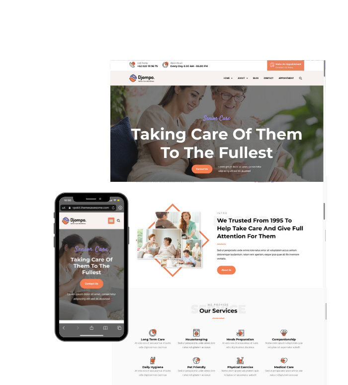 A Home care webpage design by Skyy Marketing